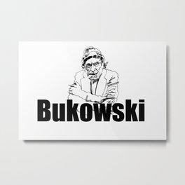 Charles Bukowski Drawing Metal Print