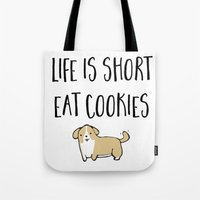 cookies Tote Bags featuring Cookies! by I'm Knot Tangled