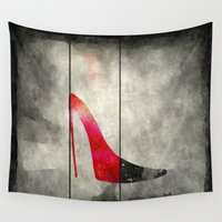 shoe Wall Tapestries featuring Painted Shoe by V.L. Durand