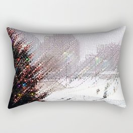 Alex & Ani Skating Center - Providence, Rhode Island Winter Scene Portrait by Jeanpaul Rectangular Pillow