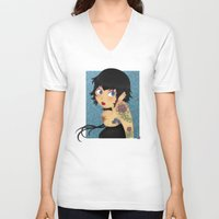rockabilly V-neck T-shirts featuring Rockabilly by Katherine Galo