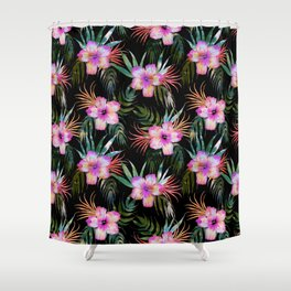 Honolua Tropic Black Shower Curtain