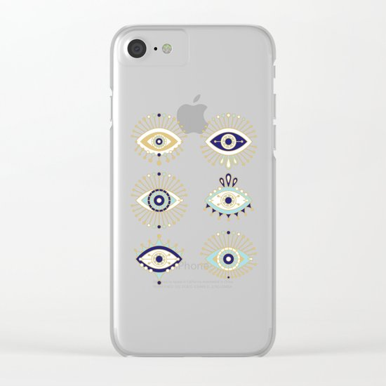 Evil Eye Collection on White Clear iPhone Case