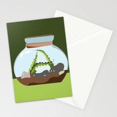 Terrarium Letter A Stationery Cards