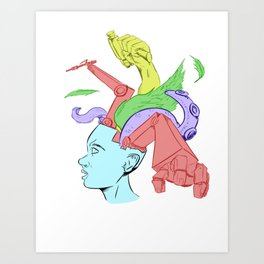 A Creative Mind Art Print