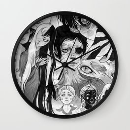 21 eyes Wall Clock