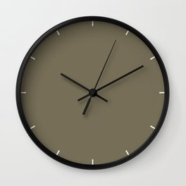 Martini Olive | Pantone Fashion Color | Fall : Winter 2018 | New York and London | Solid Color Wall Clock