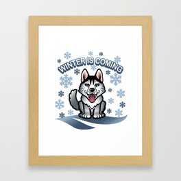 Wolf winter Framed Art Print
