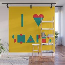 I heart Shapes Wall Mural