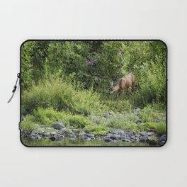 Young Doe Among the Flora, No. 2 Laptop Sleeve