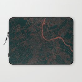 Basel Map Red Laptop Sleeve