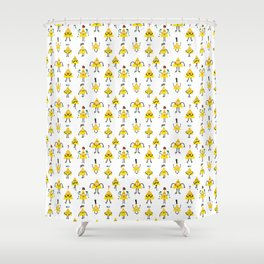 Gravity Falls taken over by Bill Cipher Shower Curtain