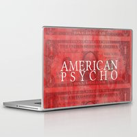 american psycho Laptop & iPad Skins featuring American Psycho by Robert Payton