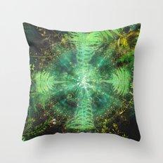 Botanic Mandala II Throw Pillow