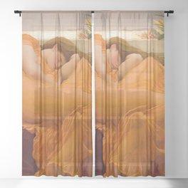 FLAMING JUNE - FREDERIC LEIGHTON Sheer Curtain