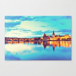 Prague at Twilight Canvas Print