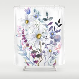 Wildflowers V Shower Curtain