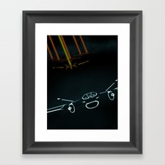 TRON LIGHT JET Framed Art Print