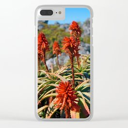 Cape Town Flowers Clear iPhone Case