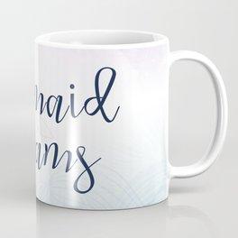 Mermaid Dreams - Pink and Blue Mermaid Waves Coffee Mug