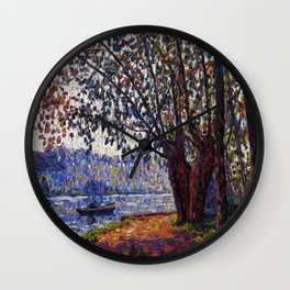 Sunlight on the Banks of the Loing French autumn landscape by Francis Picabia Wall Clock