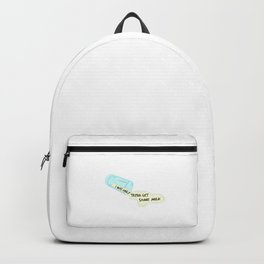 Show your funny and humorous side with this spilled milk with text tee design! Makes a naughty gift! Backpack