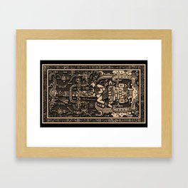 Sala Tumba de Pakal Framed Art Print