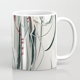 Soft Strands- Mixed Media Modern Abstract Collage Coffee Mug