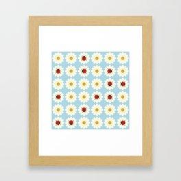 Ladybugs pattern Framed Art Print