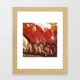 Christmas Tree Plume Agate Framed Art Print