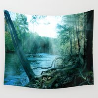 woods Wall Tapestries featuring woods  by mark ashkenazi