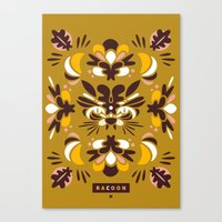 racoon Canvas Prints featuring Racoon by Typozon