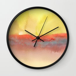 Watercolor abstract landscape 01 Wall Clock