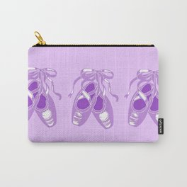 Lavender Ballet Shoes Printmaking Art Carry-All Pouch
