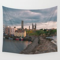 scotland Wall Tapestries featuring St Andrews, Scotland by Sierra Whiskey Bravo