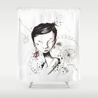 human Shower Curtains featuring Human by Ianah Maia