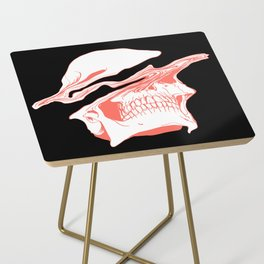 Liquify Skull in black and living coral Side Table