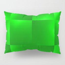 Shiny gradient Checks, green Pillow Sham