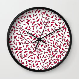 Paprika on white Wall Clock