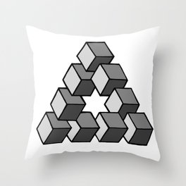 Impossible Cubes Throw Pillow