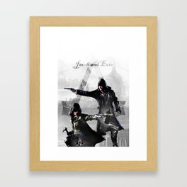 Jacob and Evie Frye Double Exposure Framed Art Print