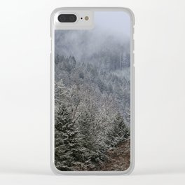 Mt Hagen in the Mist Clear iPhone Case