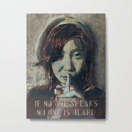 Voiceless Metal Print