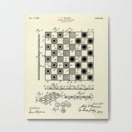 Checker and Chess Board-1923 Metal Print
