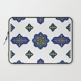 Samarkand blue and yellow ornament Laptop Sleeve