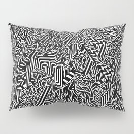 Psychedelic Black and White Stoner Pillow Sham