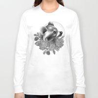 raccoon Long Sleeve T-shirts featuring RACCOON by Thiago Bianchini