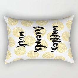 Waffles for Life Rectangular Pillow