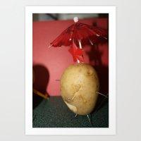 potato Art Prints featuring Potato  by Alyssa Cortes