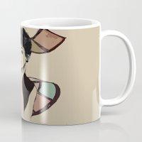 hepburn Mugs featuring hepburn by Jessica Brophy
